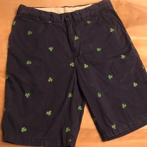 2/$15 Cremieux - Khaki Shorts Lucky Shorts clover